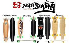 Streetsurfing Longboard Skateboard 4 Modelle California, Downhill, Bamboo, Black