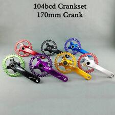 IXF 104bcd MTB Bike Crankset + Chainring + BB 170mm Crank Narrow Wide Chainwheel