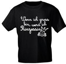 Kids Camiseta Negro Talla 92-140 Wenn Yo Gran Bin, Werd Yo Princesa 08189