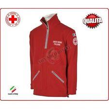 Pile Maglione Ricamato Croce Rossa Italiana C.R.I. Rosso NewCapitolato Soccorso