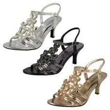 Ladies Anne Michelle Strappy Diamante Evening 'Sandals'