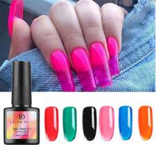 Neon Color UV Nail Polish Jelly Glass Gel Soak Off Varnish Manicure Art