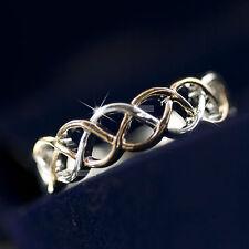 18K White Rose Gold Plated women's wedding dress filigree Ring