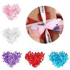 100pcs Mini Ribbon Bow Satin Small 35mm DIY sewing Decoration Wedding Applique!!
