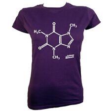 Caffeine Molecule Women's Purple T-shirt