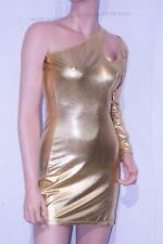 Gold Shiny Metallic Bodycom Club Dress Party Dress, Sexy Size M L Valentine's
