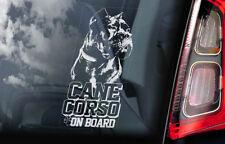 Cane Corso on Board - Car Window Sticker - Dog Sign Decal Italian Mastiff - V05