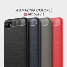 Housse etui coque silicone gel carbone pour HTC Desire 12 + film ecran