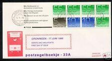 FDC Philato met postzegelboekje 33a + aanhangsel