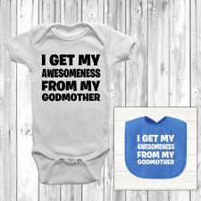 Supercoolitude, ça de ma marraine bébé grandir Body Costume Gilet Mignon Bib Dieu Fils Fille