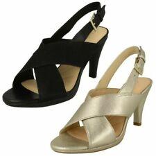 Ladies Clarks Heeled Slingback Sandals Dalia Lotus