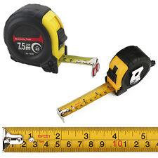 5M 7.5M Retractable Tape Measure Griplock Imperial Metric Measuring Metres
