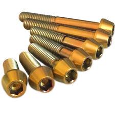 M6 Tornillos De Titanio cónico Oro Color Increíble Calidad Garantía De Por Vida
