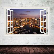 Full Colour SKYLINE MALAYSIAN CITY wall sticker decal transfer WSD555