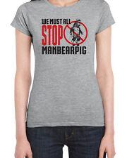 162 ManBearPig womens t-shirt south funny comedy park legend man bear pig retro