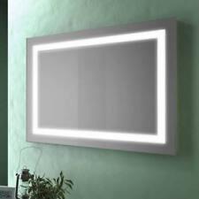 Specchio bagno design da 80x60 cm con cornice retroilluminata a LED