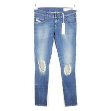 Diesel Jeans Grupee Damen W26 W28 L32 L34 Blau Slim Skinny Ripped Destroyed 863X