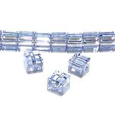 SCC186f PROVENCE LAVENDER Purple Faceted Cube 4mm Swarovski Crystal Beads 12/pkg