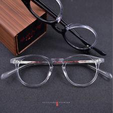 Vintage Oval Round Handmade Eyeglass Frames Japan Made Full Rim myopia Rx able