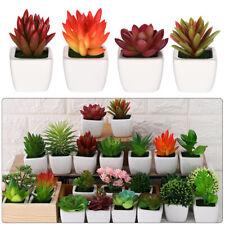 Home Decor Lotus Floral Craft Artificial Mini Plants Succulents Fake Flowers