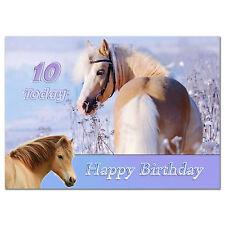688; Especial Personalizado Cumpleaños Tarjeta; Cute Caballo Pony Amante; cualquier edad, nombre