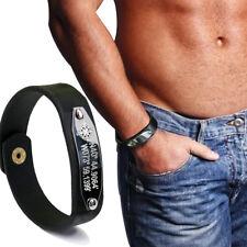 GPS Leather Bracelet Personalized Coordinate Longitude Latitude Bracelet Man