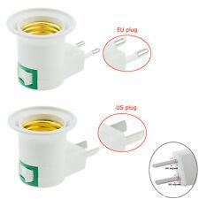E27 Lamp Socket Holder Screw Base Light Bulb Adaptor US / EU Plug Wall Plug-in