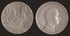 "1 LIRA 1909 QUADRIGA VELOCE ARGENTO - VITTORIO EMANUELE III ""RARA"""