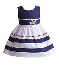 Cinda Aro Algodón Vestido niña de fiesta azul rojo 6 9 12 18 24 meses 3 4 5