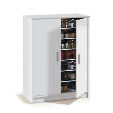 Mueble zapatero armario zapatero auxiliar 2 puertas color Blanco, Basic Wide