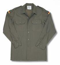 Autentiche Vintage Esercito Tedesco Militare campo SURPLUS Camicia a maniche lunghe grado 1
