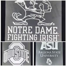 """NCAA Team Logo Die Cut Car Sticker  Decal 8"""" x 8"""" (White)  Pick Team"""