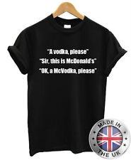 Vodka McDonalds McVodka Joke Funny Humour T shirt Mens Womens Rude
