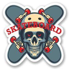 2 X Skateboard pegatina de vinilo Laptop Viaje Equipaje Coche #5495
