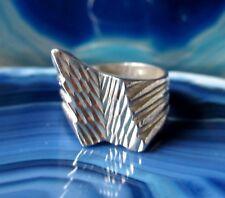 Ring Silberring Zacke eckig extravagant Sterling Silber 925