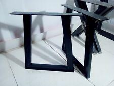 Gambe tavolo ferro design 2 x iron Table legs 3 finishes a Trapezio sez. 8x4 004