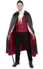 Herren Vampir Graf Dracula Halloween Rotes Maskenkostüm