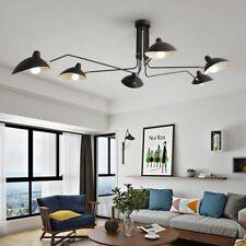 Iron Chandelier Lighting Adjustable Spider Ceiling Loft Living Room Bedroom Home