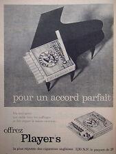 PUBLICITE PLAYER'S CIGARETTE ANGLAISE POUR UN ACCORD PARFAIT PAQUET DE 20- PIANO