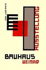 1923 exposición Arte alemana de Weimar Bauhaus Titel V.4 A3 cartel re impresión