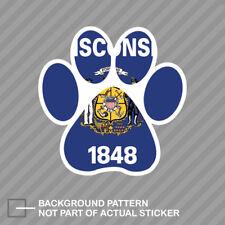 Wisconsin State Shaped Paw Print Sticker Dog Cat Pet Puppy