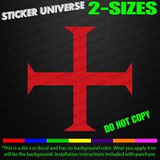 Knights Templar Cross Car Window Decal Bumper Sticker Masonic Christian 0426