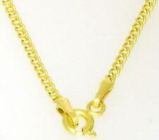 Elegante Gold Panzerkette Kinder Kette 585 Gold 36 cm Halskette Massiv Neu