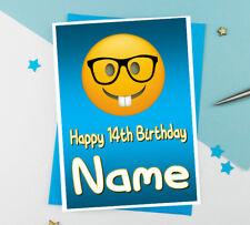 EMOJI PERSONALISED BIRTHDAY CARDS ANY NAME / AGE - 7 DESIGNS