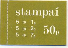 Irlanda: 1977 50p folleto Sg Sb 24: Hibernian Sb 22