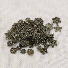 10/25/50/100x Perlenkappen Mix - Perlen Kappe Bronze - Metall Deko DIY Spacer