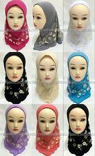 Children Kids 2 Layer Girls Muslim Hijab Islamic Scarf Arab Shawls For 1-8 Years