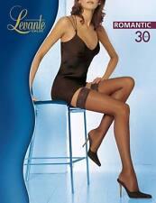 Levante Collant Donna Romantic 30 DEN Calza Autoreggente con balza in pizzo