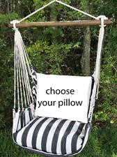 MAGNOLIA CASUAL HAMMOCK SWING SET - TRUE BLACK Choose Your Pillow