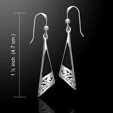 Filigree Flower .925 Sterling Silver Earrings Choice of Gem Inlay Peter Stone